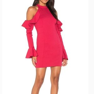 Free People Cold Shoulder Raspberry dress